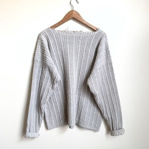 Vintage Redone Slouchy Cotton Knit Pullover